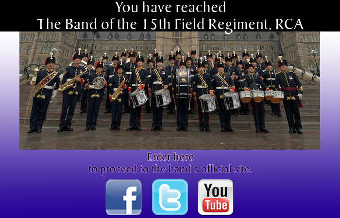 The Band of the 15th Field Regiment, RCA